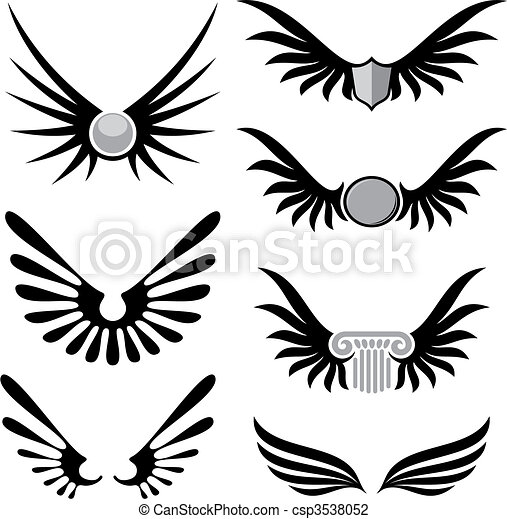 Wings 01 vector - csp3538052