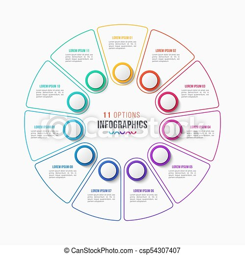 Vector 10 parts infographic design circle chart vector 11 parts vector 10 parts infographic design circle chart ccuart Choice Image