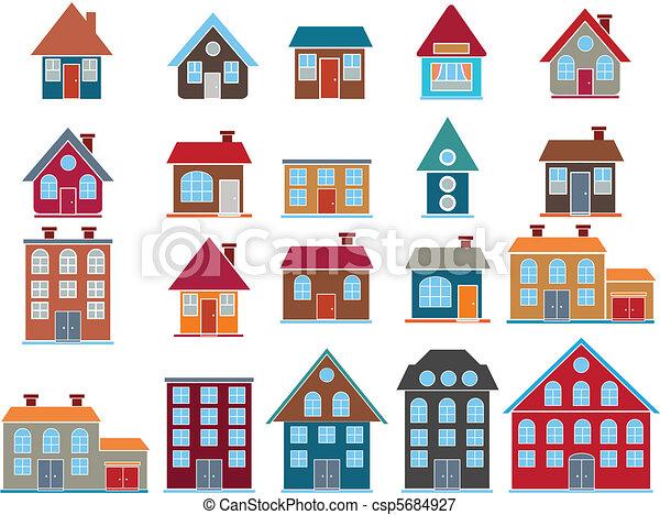 20 edificios. Vector - csp5684927