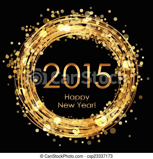 Vector 2015 glowing background - csp23337173