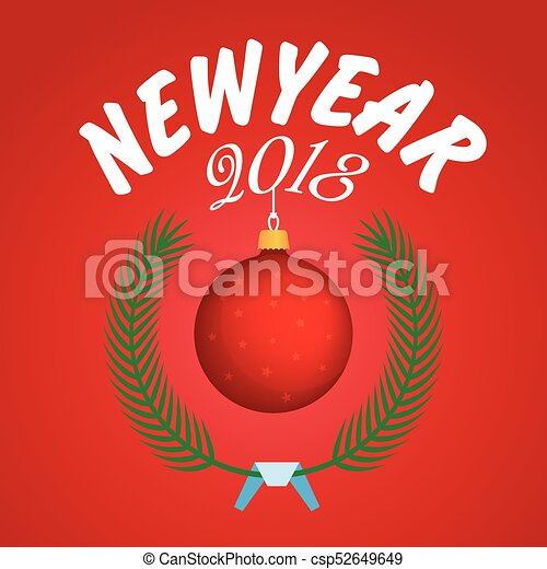 vector 2018 happy new year background