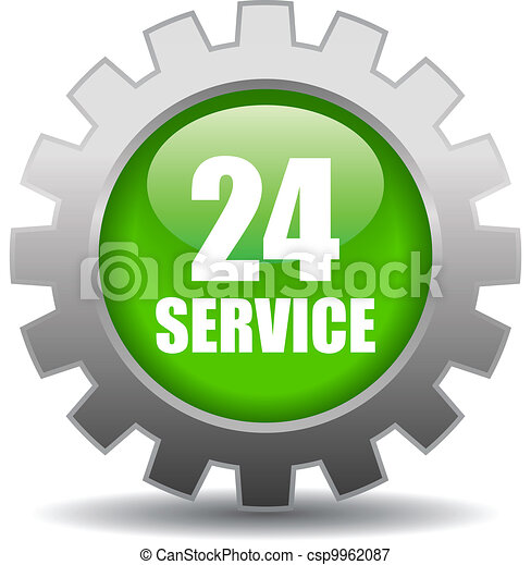 Vector 24 hour service sign - csp9962087