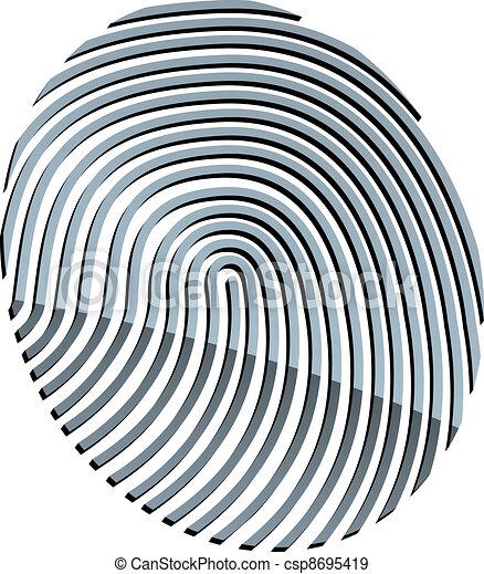 vector 3d abstract fingerprint - csp8695419