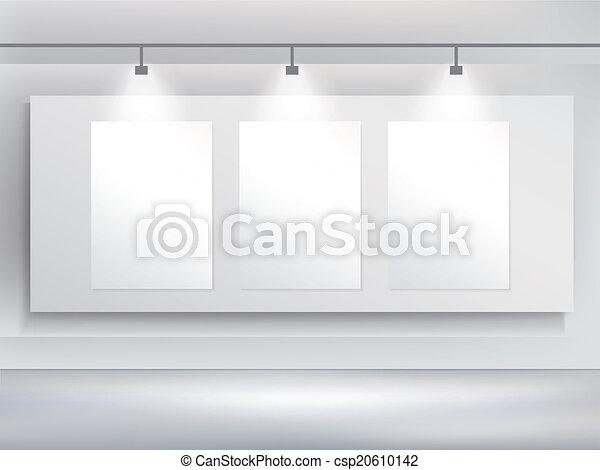 Vector 3d Blank Billboard Template And Spotlight
