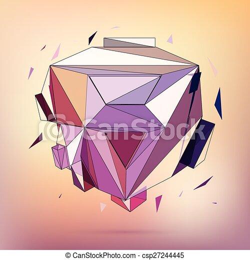 Vector 3D concept illustration. - csp27244445