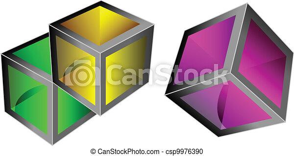 Vector 3d cubes - csp9976390