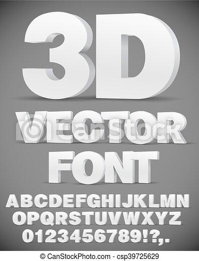 Vector 3D font - csp39725629