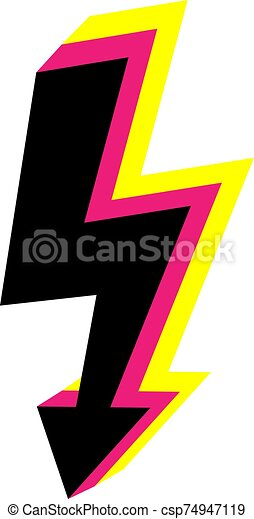 vector 3d icons lightning bolt thunder sign with lightning electricity danger thunder lighting flash isolated https www canstockphoto com vector 3d icons lightning bolt thunder 74947119 html