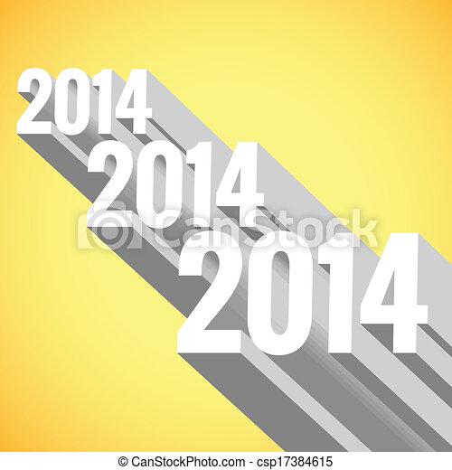 vector 3d new year design - csp17384615