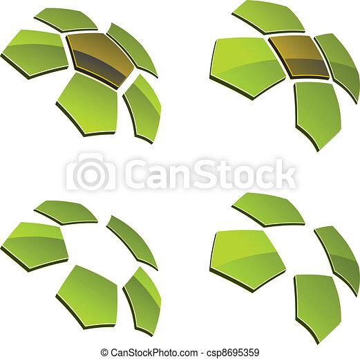 vector 3d shiny elements - csp8695359