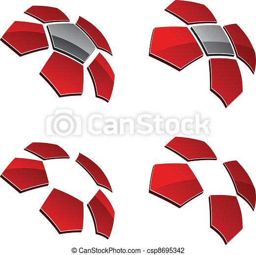 vector 3d shiny elements - csp8695342