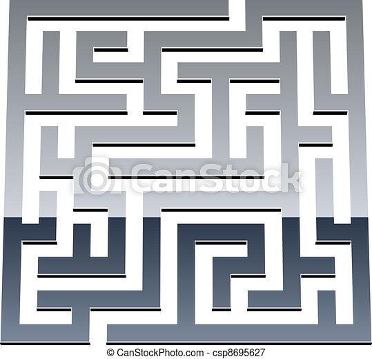 vector 3d shiny maze - csp8695627