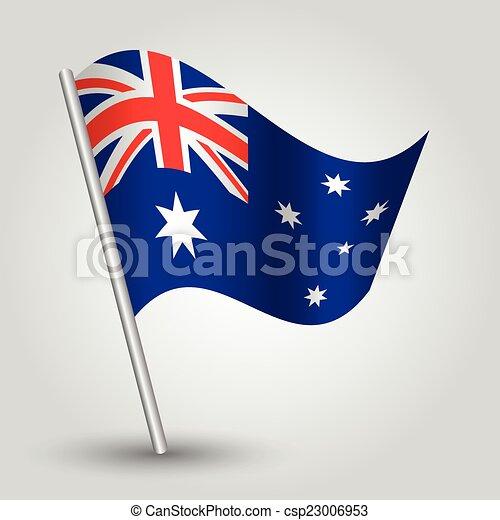 vector 3d waving australian flag - csp23006953