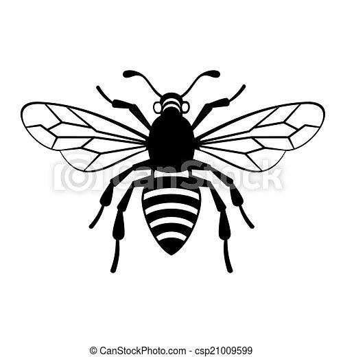 Vector, abeja, icono. ...