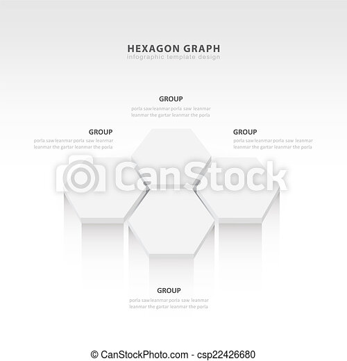 vector abstract 3d hexagonal paper infographic elements white style