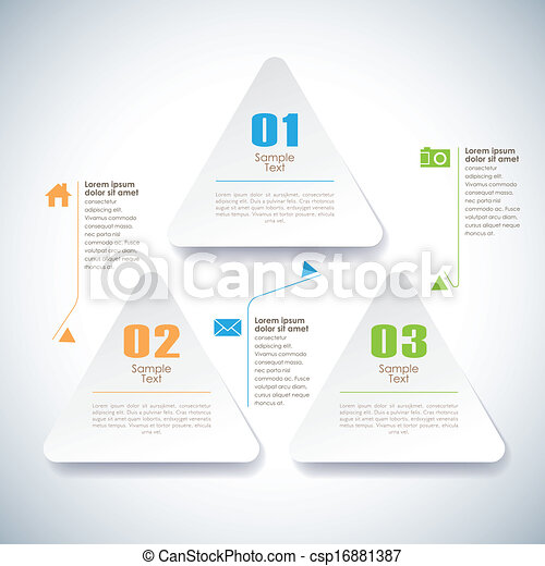 vector abstract 3d sticky infographics - csp16881387