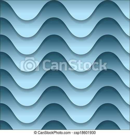 vector abstract backdrop with blue waves - csp18601930