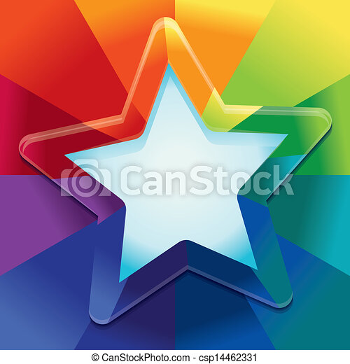 Vector abstract background in rainbow colours - csp14462331