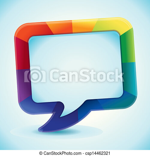 Vector abstract background in rainbow colours - csp14462321