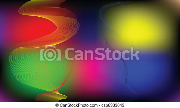 Vector abstract background, rainbow - csp6333043