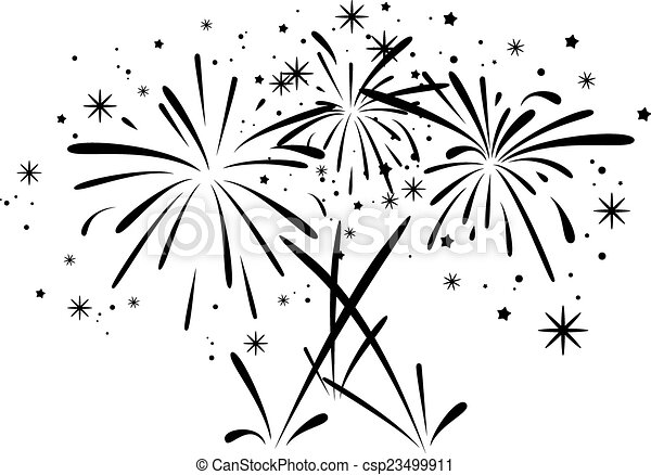 Vector Abstract Black And White Bursting Fireworks Vector Abstract