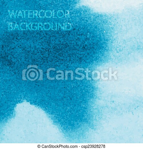 vector abstract blue watercolor background for your design - csp23928278