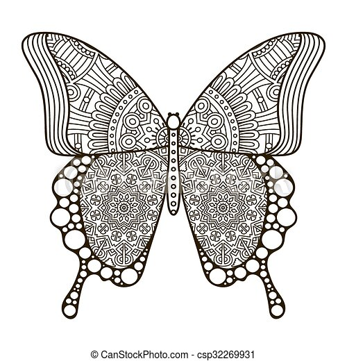 Vector abstract Butterfly - csp32269931
