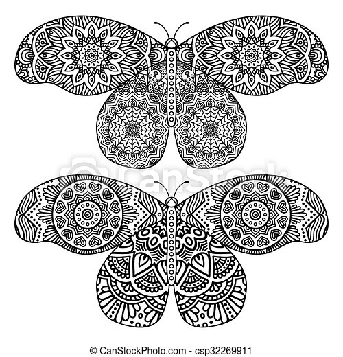 Vector abstract Butterfly - csp32269911