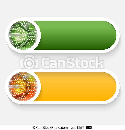 vector abstract button - csp18571980