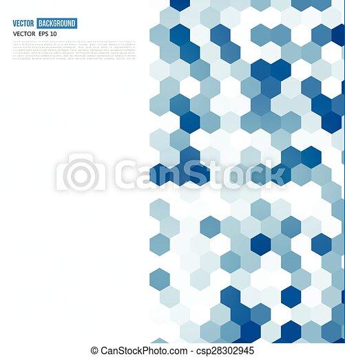 Vector abstract color 3d hexagonal. - csp28302945