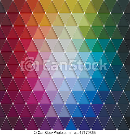 Vector Abstract Colorful Triangles Pattern - csp17179365