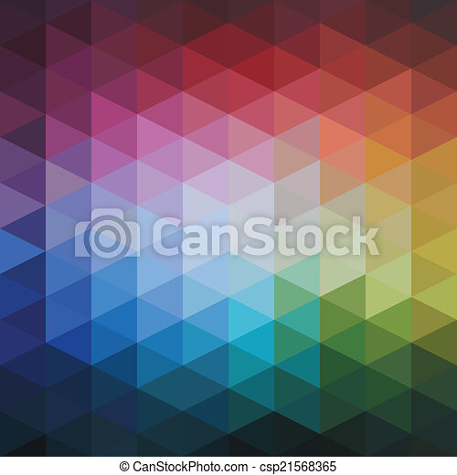 Vector Abstract Colorful Triangles Pattern  - csp21568365