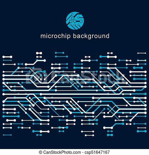 Vector abstract computer circuit board illustration,... clip art ...