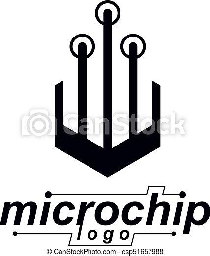 Vector abstract computer circuit board, technology element... vector ...