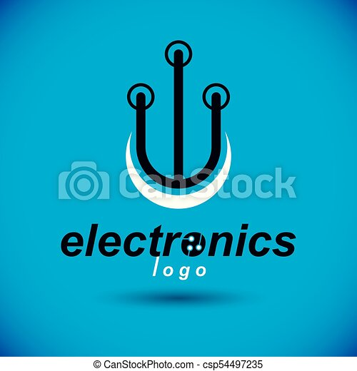 Vector abstract computer circuit board, technology element ...