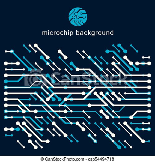 vector abstract computer circuit board illustration technology rh canstockphoto com