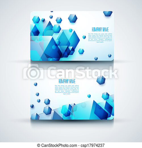 Vector abstract creative business cards (set template) - csp17974237