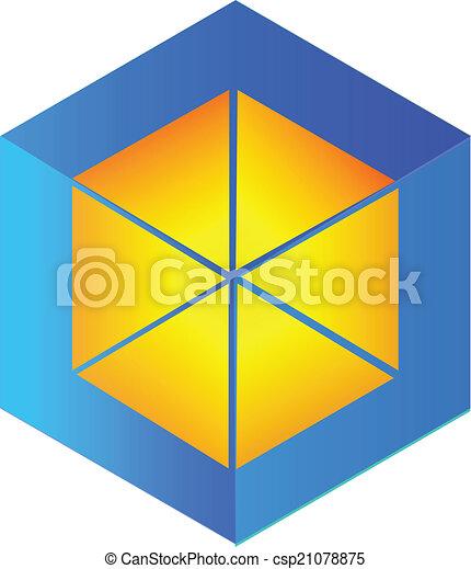 Vector abstract cube logo - csp21078875