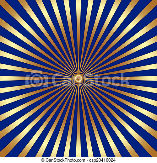 vector abstract dark background with golden rays