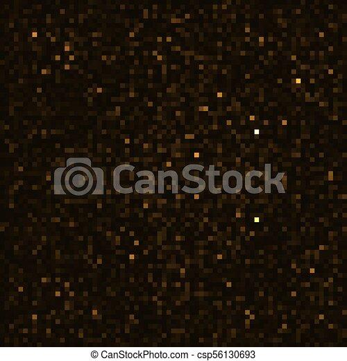 Vector abstract dark gold bokeh background - csp56130693