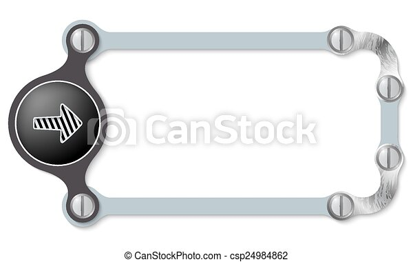 vector abstract frame and screws and arrow - csp24984862