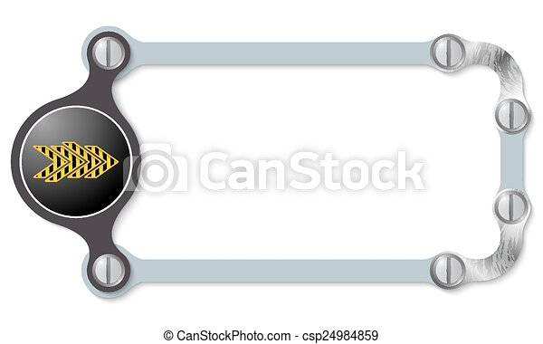 vector abstract frame and screws and arrow - csp24984859