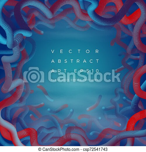 Vector abstract frame background. Banner, poster - csp72541743