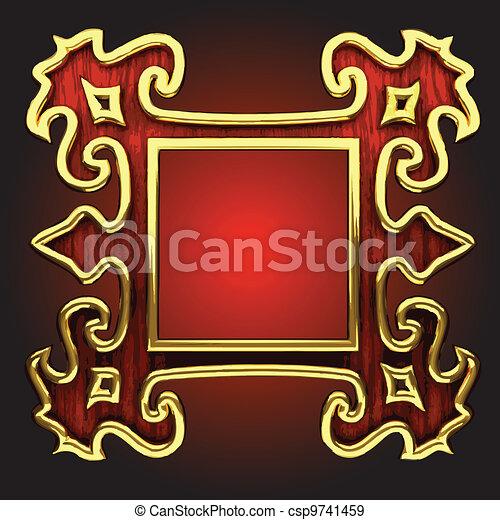 vector abstract frame - csp9741459