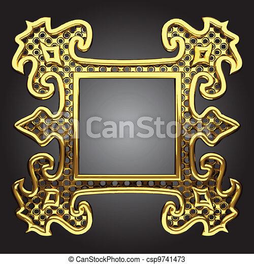vector abstract frame - csp9741473