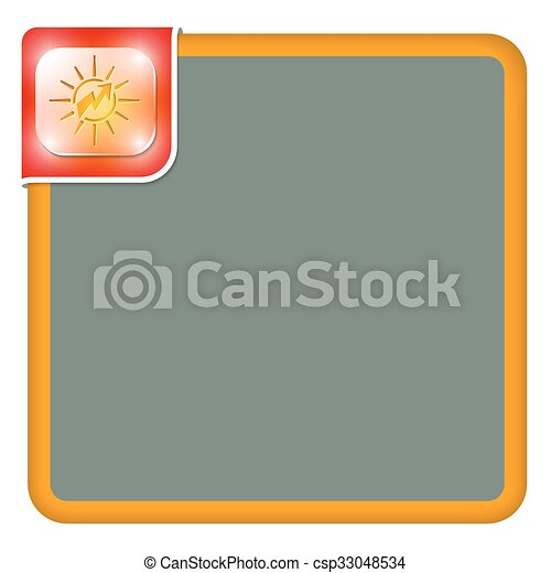 Vector abstract frame for your text and flash - csp33048534