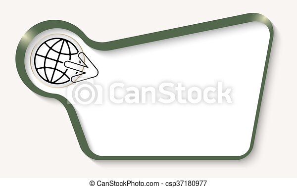 Vector abstract frame for your text and arrow - csp37180977