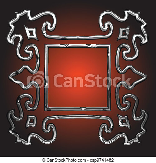 vector abstract frame - csp9741482