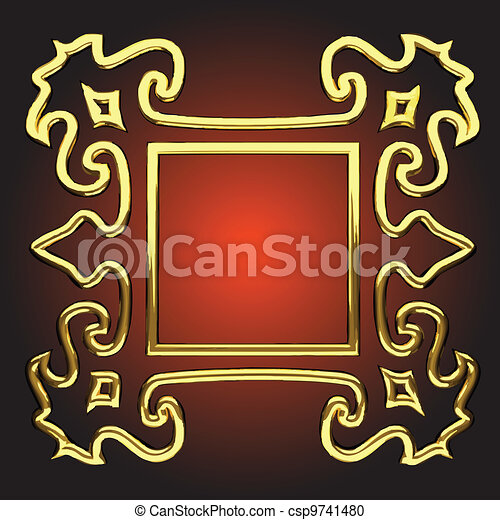 vector abstract frame - csp9741480