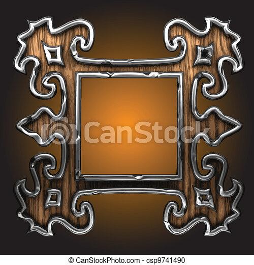 vector abstract frame - csp9741490